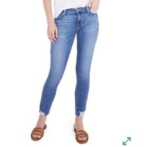 PAIGE Verdugo Distressed Ankle Skinny Jeans